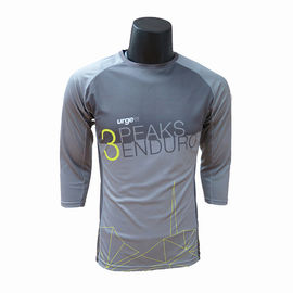Breathable Out Door Gray Cycling Sports Clothing Mountain Bike Tops Crew Neck