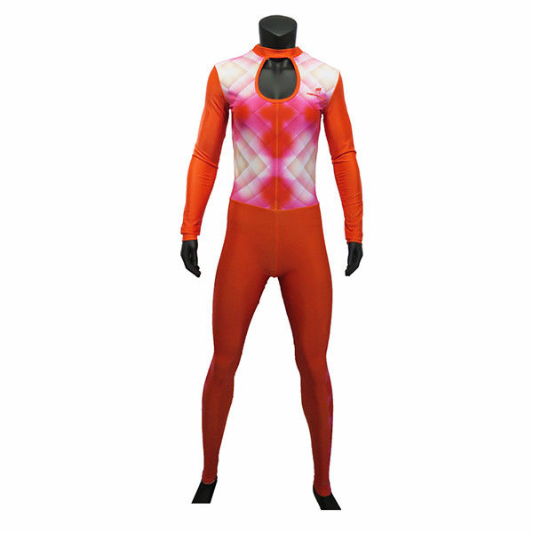 Long Sleeve Style Inline Skate Clothing Orange Skating Skin Suit For Lady