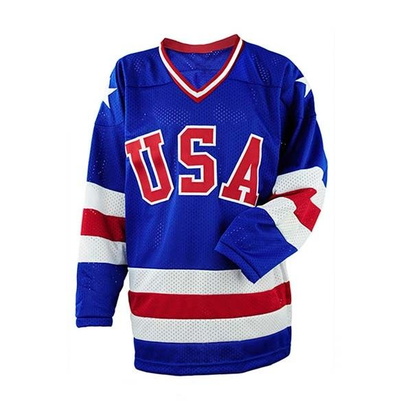 Breathable Blue Color Ice Hockey Clothing Shirts & Tops Eco Friendly