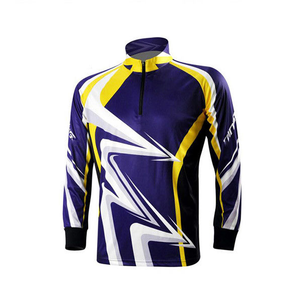Classic Design Outdoor Fishing Apparel , Full Custom Sublimated Fishing Jerseys
